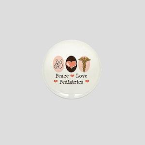Peace Love Pediatrics Mini Button