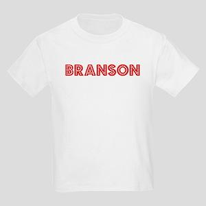 Retro Branson (Red) Kids Light T-Shirt