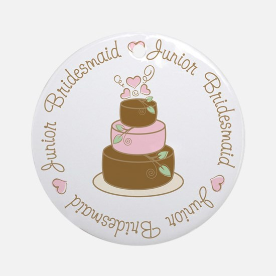 Sweet Jr. Bridesmaid Cake Ornament (Round)