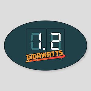 1.2 Gigawatts Sticker (Oval)