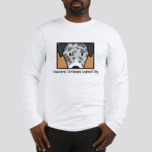 Anime Catahoula Leopard Dog Long Sleeve T-Shirt