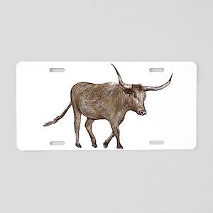 Longhorn Aluminum License Plate