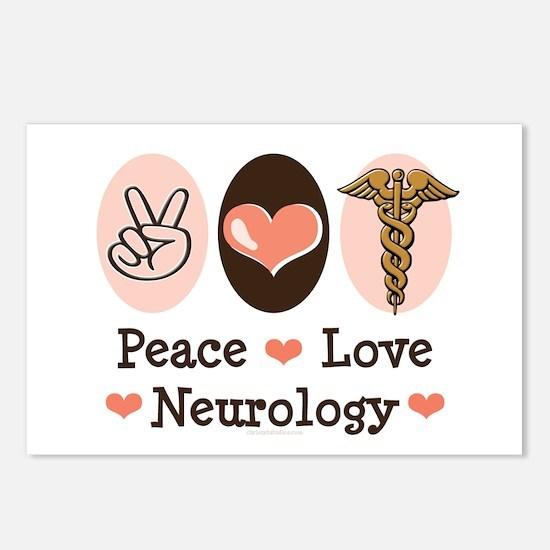 Peace Love Neurology Postcards (Package of 8)