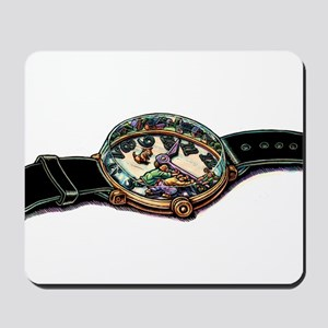 Holding Hands of Clock Mousepad