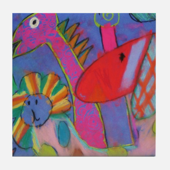 Cute Chagall Tile Coaster