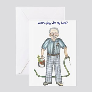 Greeting Cards Wanna Play With My Hose Dirty Old Man Ca