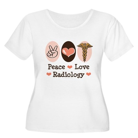 Peace Love Radiology Women's Plus Size Scoop Neck