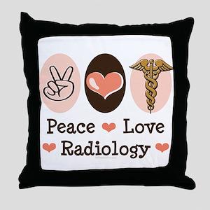Peace Love Radiology Throw Pillow