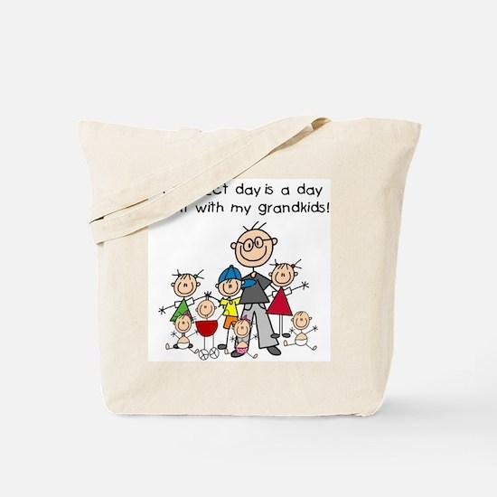 Grandpa Stick Figure Tote Bag