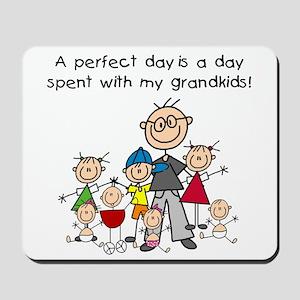Grandpa Stick Figure Mousepad