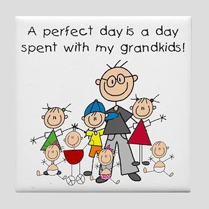 Grandpa Stick Figure Tile Coaster