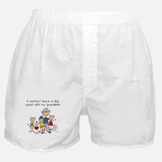 Grandpa Stick Figure Boxer Shorts
