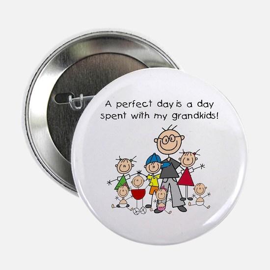 """Grandpa Stick Figure 2.25"""" Button"""