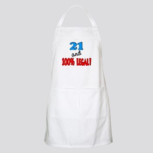 21 and 100% legal BBQ Apron