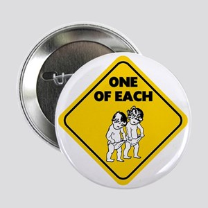 """One of Each Twins 2.25"""" Button"""