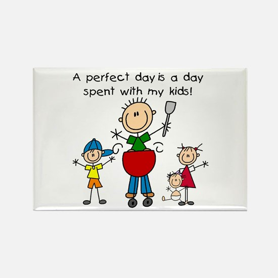 BBQ Dad Perfect Day Rectangle Magnet