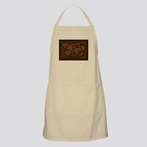 Chocolate Love Hearts BBQ Apron