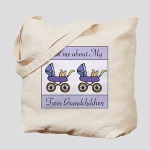 ASK ME ABOUT MY TWIN GRANDCHI Tote Bag