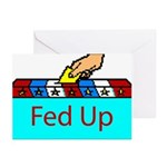 Ballot Fed Up Greeting Cards (Pk of 10)