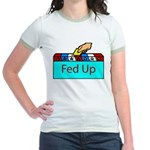 Ballot Fed Up Jr. Ringer T-Shirt