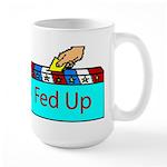 Ballot Fed Up Large Mug