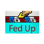 Ballot Fed Up Rectangle Magnet (100 pack)