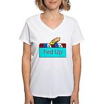 Ballot Fed Up Women's V-Neck T-Shirt