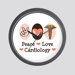 Peace Love Cardiology Wall Clock