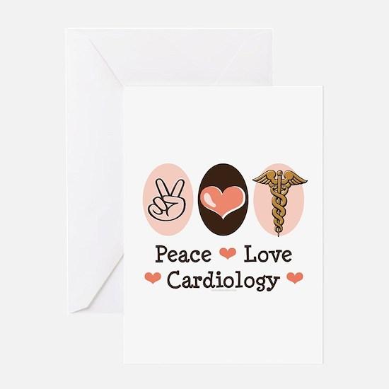Peace Love Cardiology Greeting Card