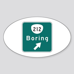 Boring, OR (USA) Oval Sticker