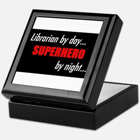Cute Super librarian Keepsake Box