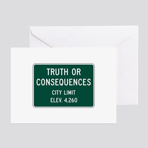 Truth Or Consequences, NM (USA) Greeting Cards (Pk