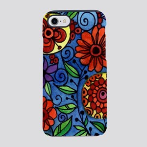 Abstract Colorful Flowers iPhone 8/7 Tough Case