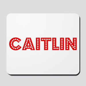 Retro Caitlin (Red) Mousepad