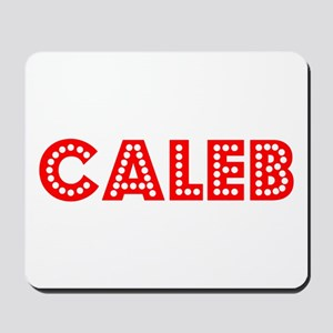 Retro Caleb (Red) Mousepad