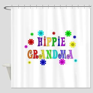 Hippie Grandma Shower Curtain