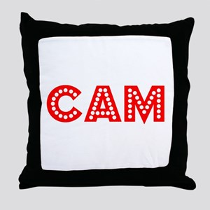 Retro Cam (Red) Throw Pillow
