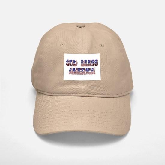 GOD BLESS AMERICA Baseball Baseball Cap