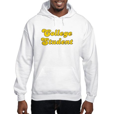 Retro College Stu.. (Gold) Hooded Sweatshirt