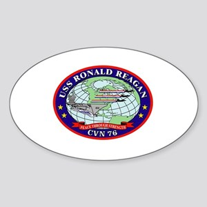 USS Ronald Reagan CVN-76 Oval Sticker