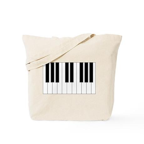 Big Piano Keyboard Tote Bag