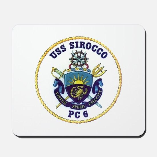 USS Sirocco PC-6 Mousepad