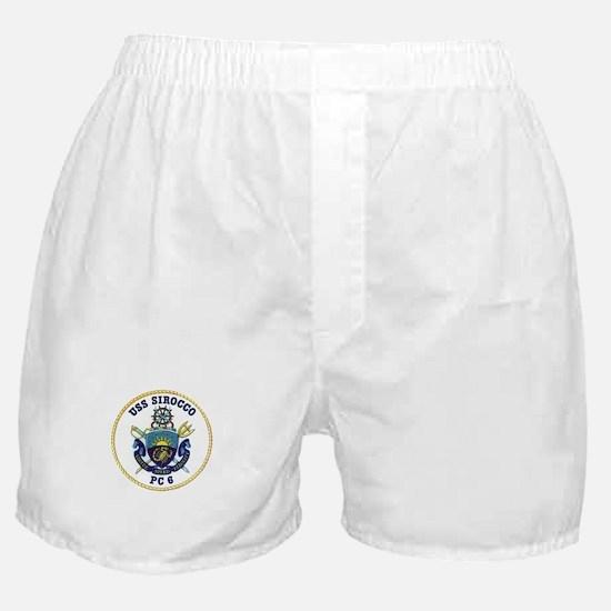 USS Sirocco PC-6 Boxer Shorts