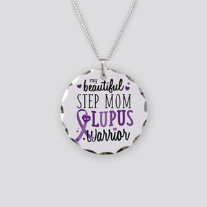 Step Mom Lupus Necklace Circle Charm