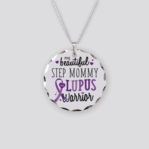 Step Mommy Lupus Necklace Circle Charm