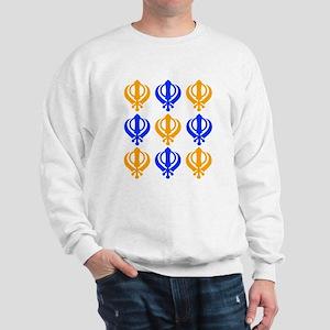 Khanda Orange Blue Pattern Sweatshirt