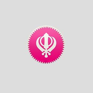 Pink Khanda design Mini Button