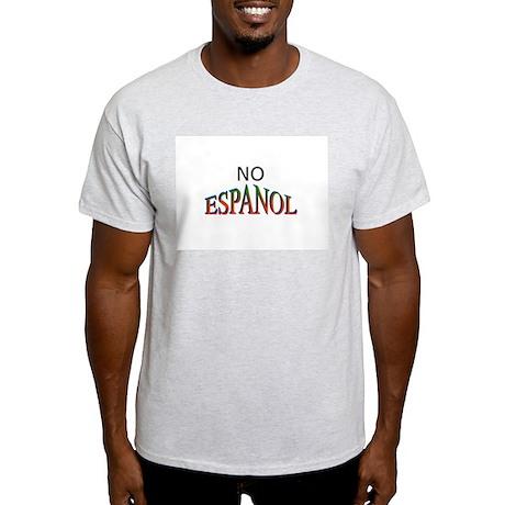 No Espanol Ash Grey T-Shirt