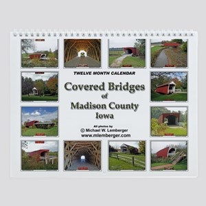 Covered Bridges Wall Calendar