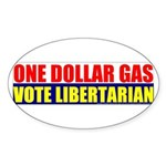 Rylla's Dollar Gas Oval Sticker (10 pk)